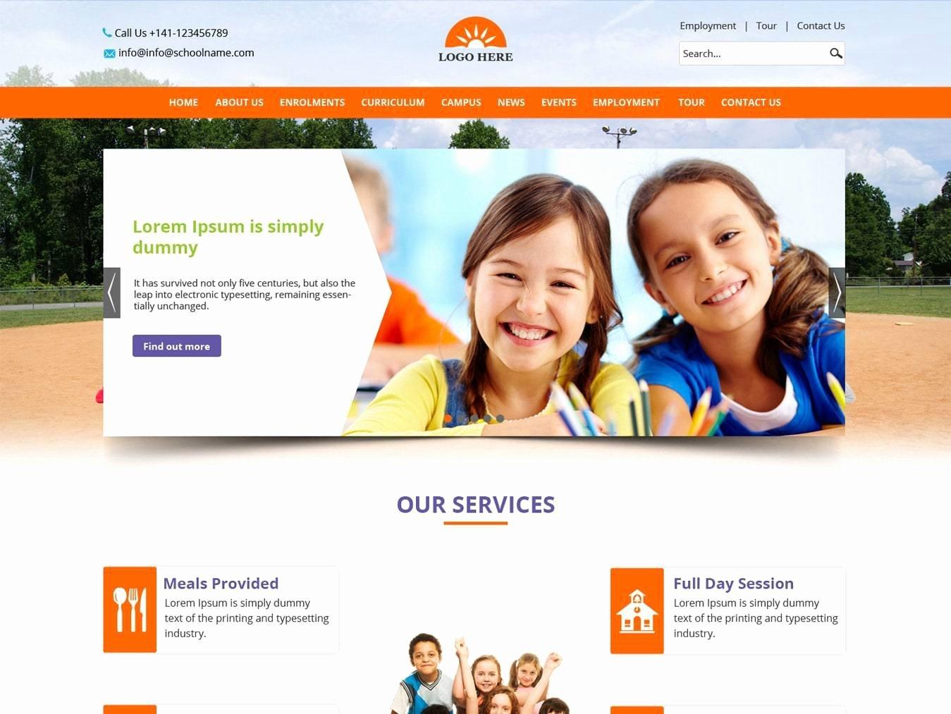 School Web Site Template Awesome Creative Blog Website Template Design Free Psd Design