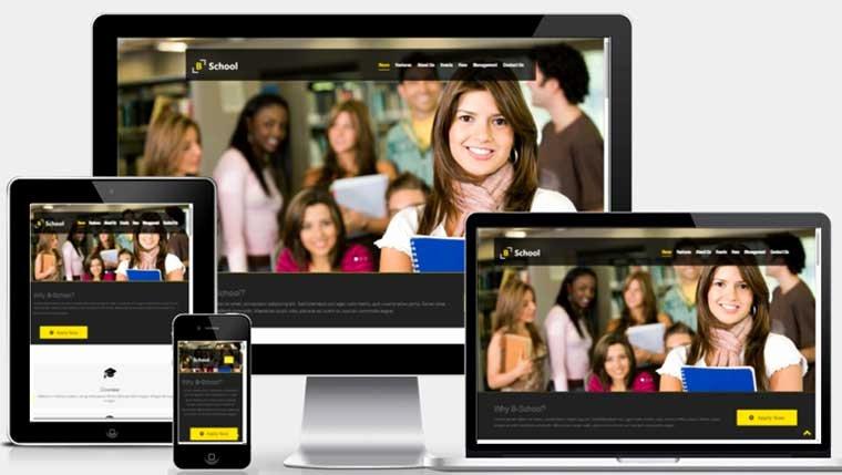 b school free educational 5 website template
