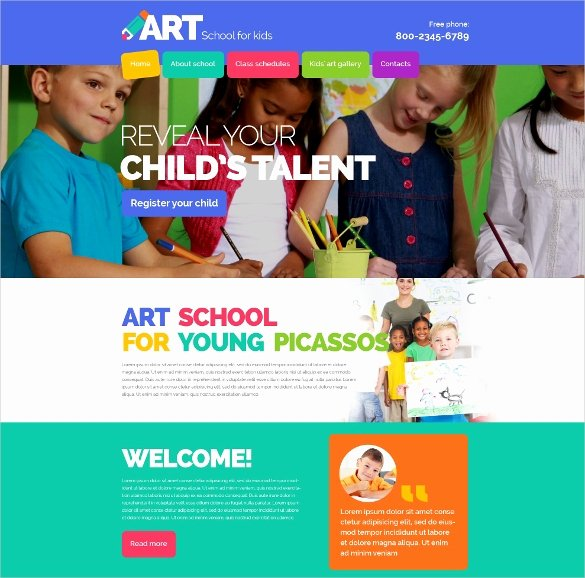 School Web Site Template Best Of 45 School Website themes & Templates