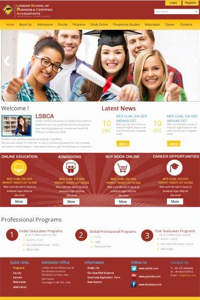 School Web Site Template Elegant School Website Free Wordpress Template