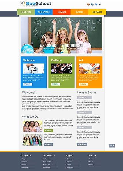 School Web Site Template Fresh 9 Best Of Best School Website Templates Free