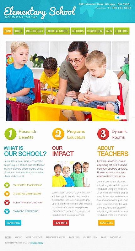 School Web Site Template Fresh Colorful Day Care Nursery & Kindergarten Kids Website
