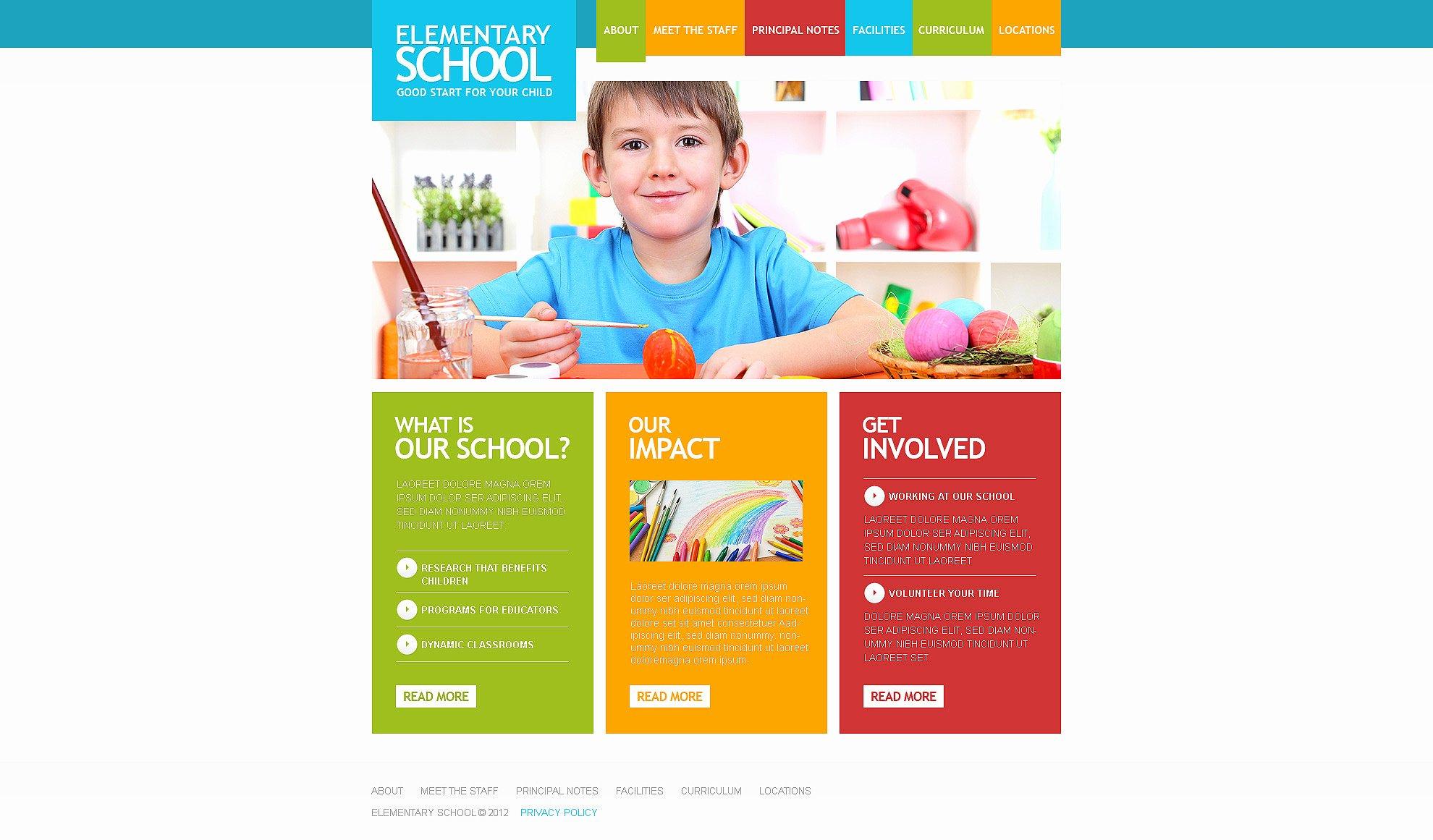School Web Site Template Inspirational Primary School Responsive Website Template