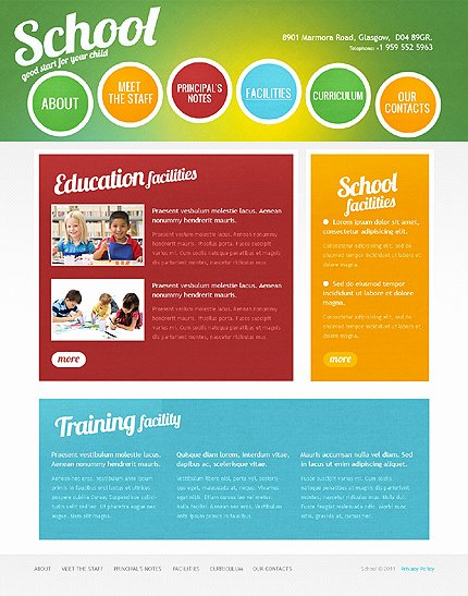 School Web Site Template Lovely Colorful and Vibrant Website Designs
