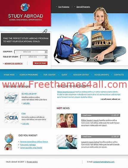 School Web Site Template Lovely Free Web Schools College Website Template Freethemes4all