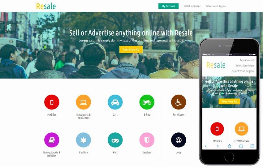 School Web Site Template New Resale A E Merce Business Responsive Web Template