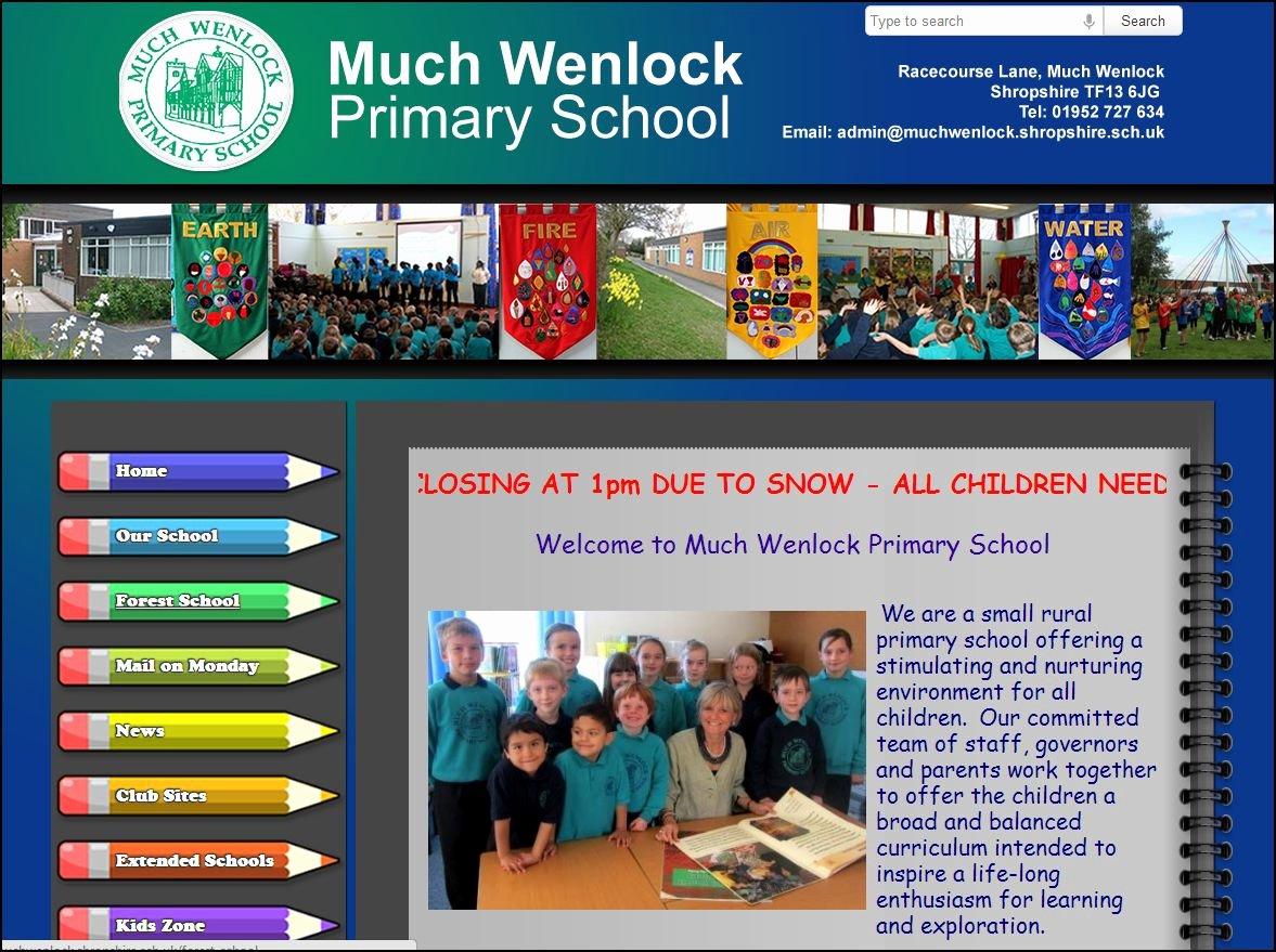School Web Site Template New School