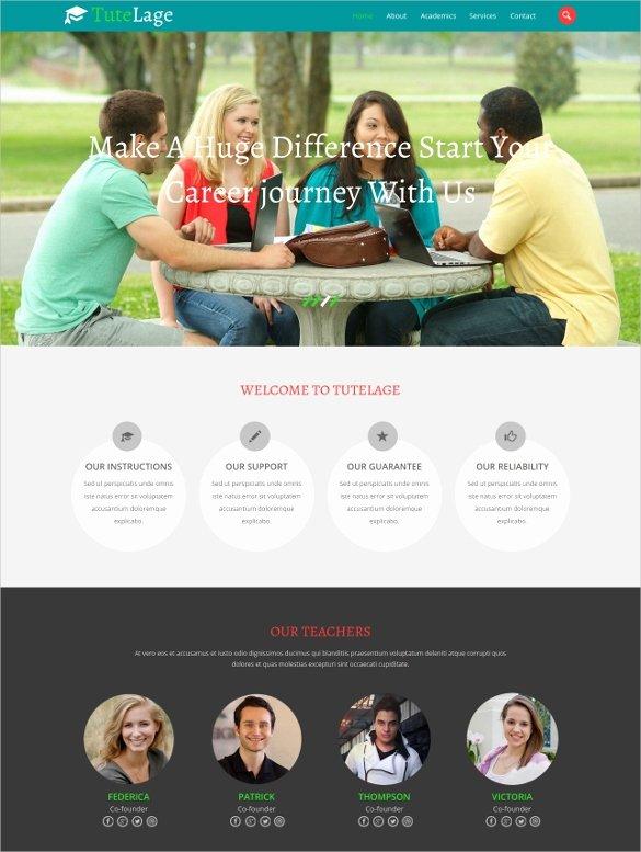School Web Site Template Unique 33 School Website themes & Templates
