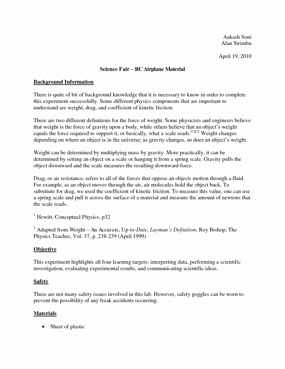 Science Fair Project Template Best Of Image 2dxfjbknce Fair Lab Report Example Research Paper