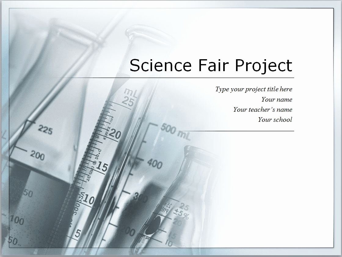 Science Fair Project Template Fresh Personal Excel Template