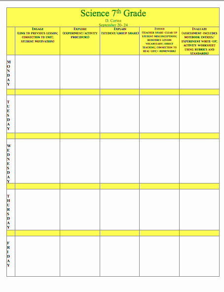 Science Lesson Plan Template Awesome Oh My Science Teacher 5e Model Of Inquiry Lesson Plan