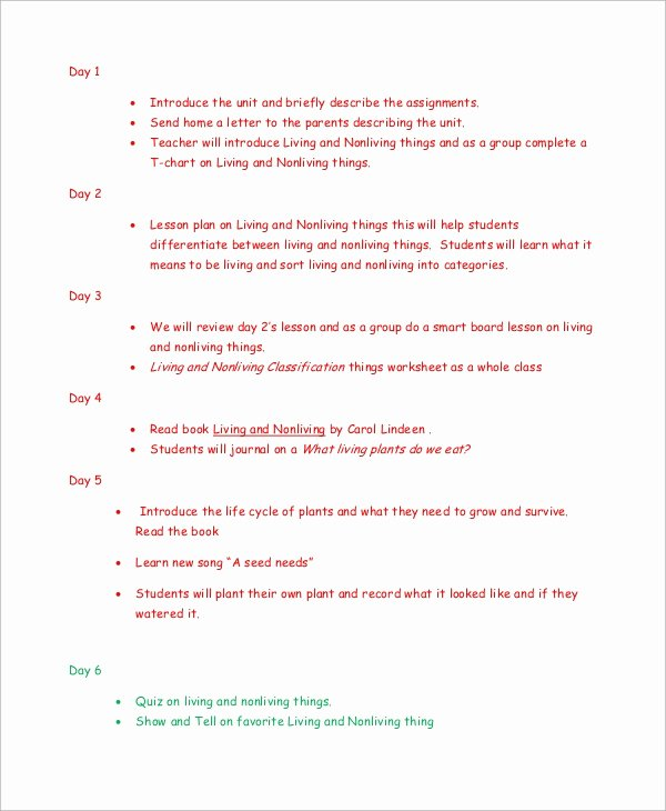 Science Lesson Plan Template Best Of 8 Kindergarten Lesson Plan Samples