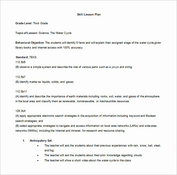 Science Lesson Plan Template Fresh 5 Madeline Hunter Lesson Plan Templates Doc Excel Pdf