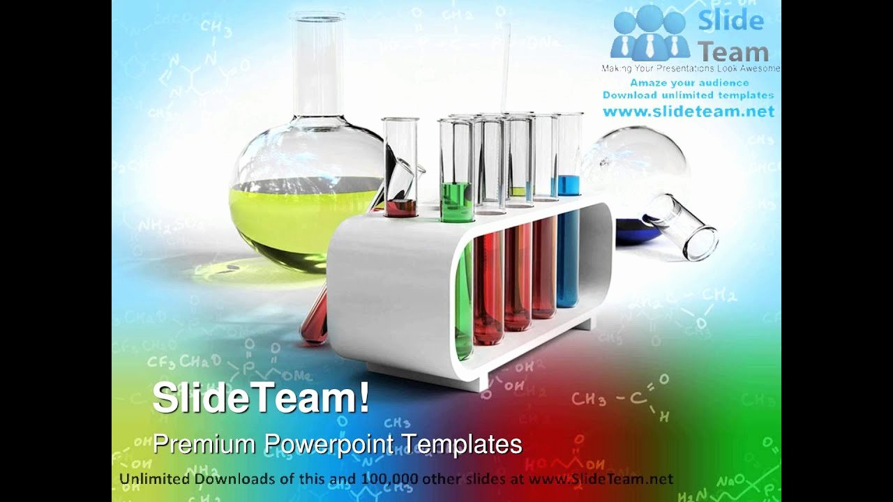 Science Power Point Template Awesome Flasks and Test Tubes Science Powerpoint Templates themes