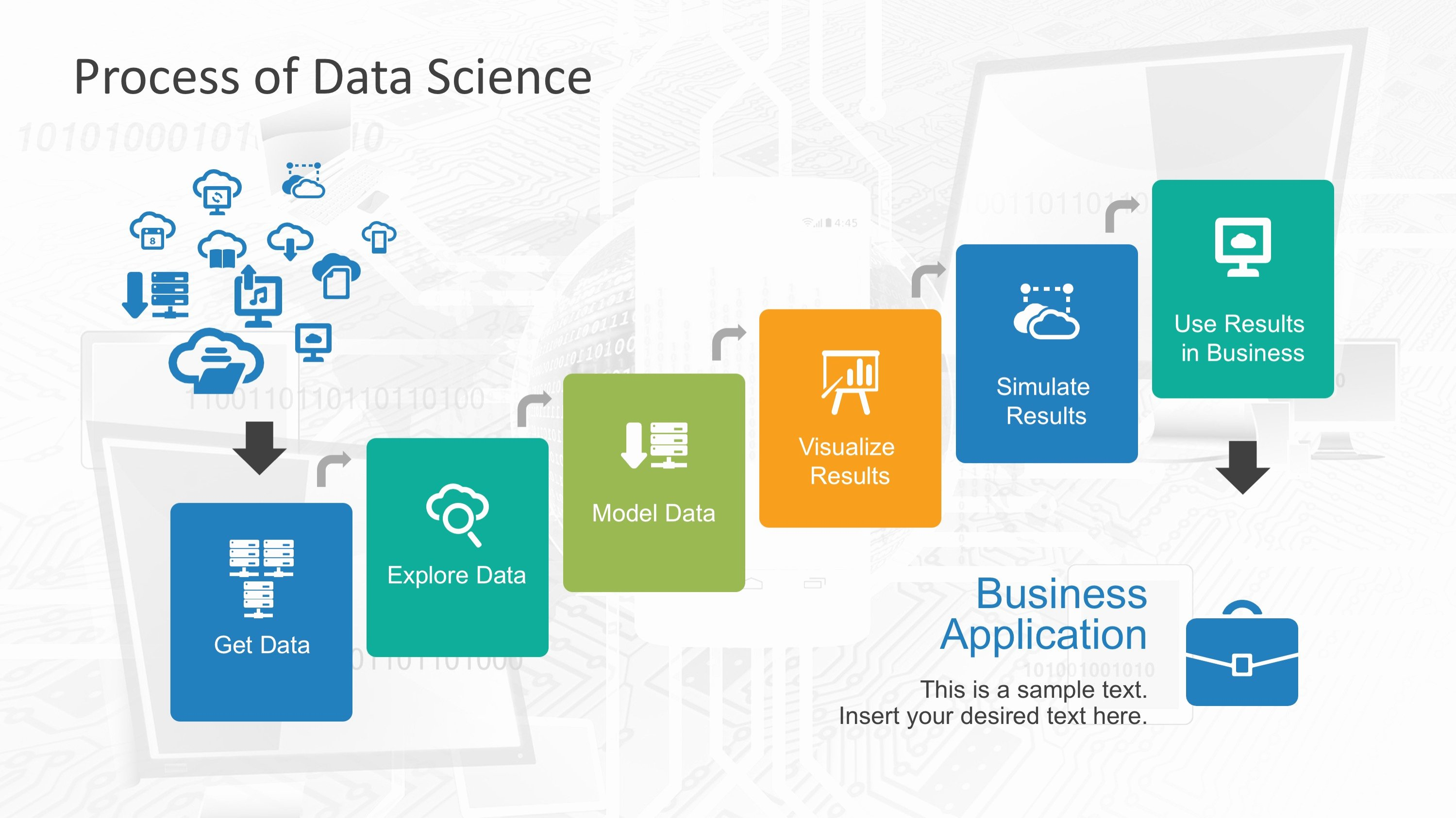 Science Power Point Template Fresh Data Science Shapes Powerpoint Template Slidemodel