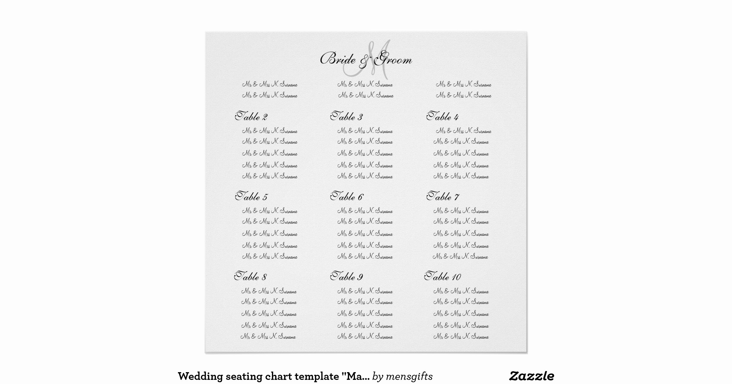 Seating Chart Poster Template Fresh Wedding Seating Chart Template Make Your Own Poster