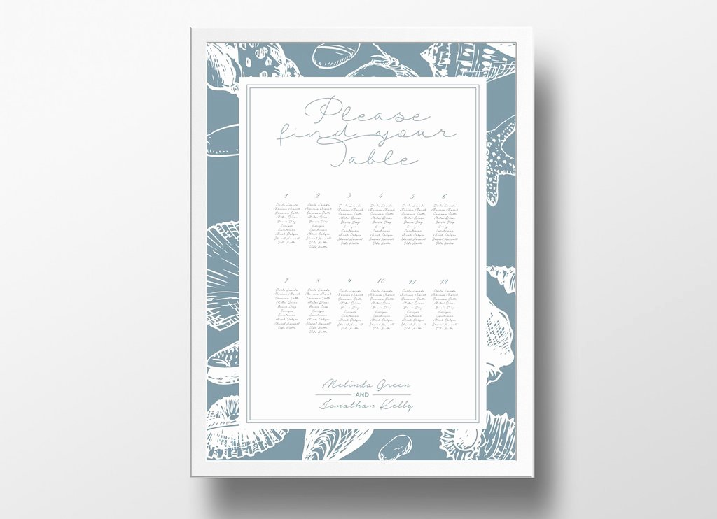 Seating Chart Poster Template Fresh Wedding Seating Plan – Xo Bspoke
