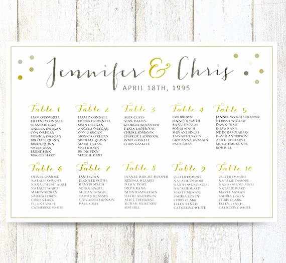 Seating Chart Poster Template Lovely White Wedding Seating Chart Poster Digital Gold Wedding