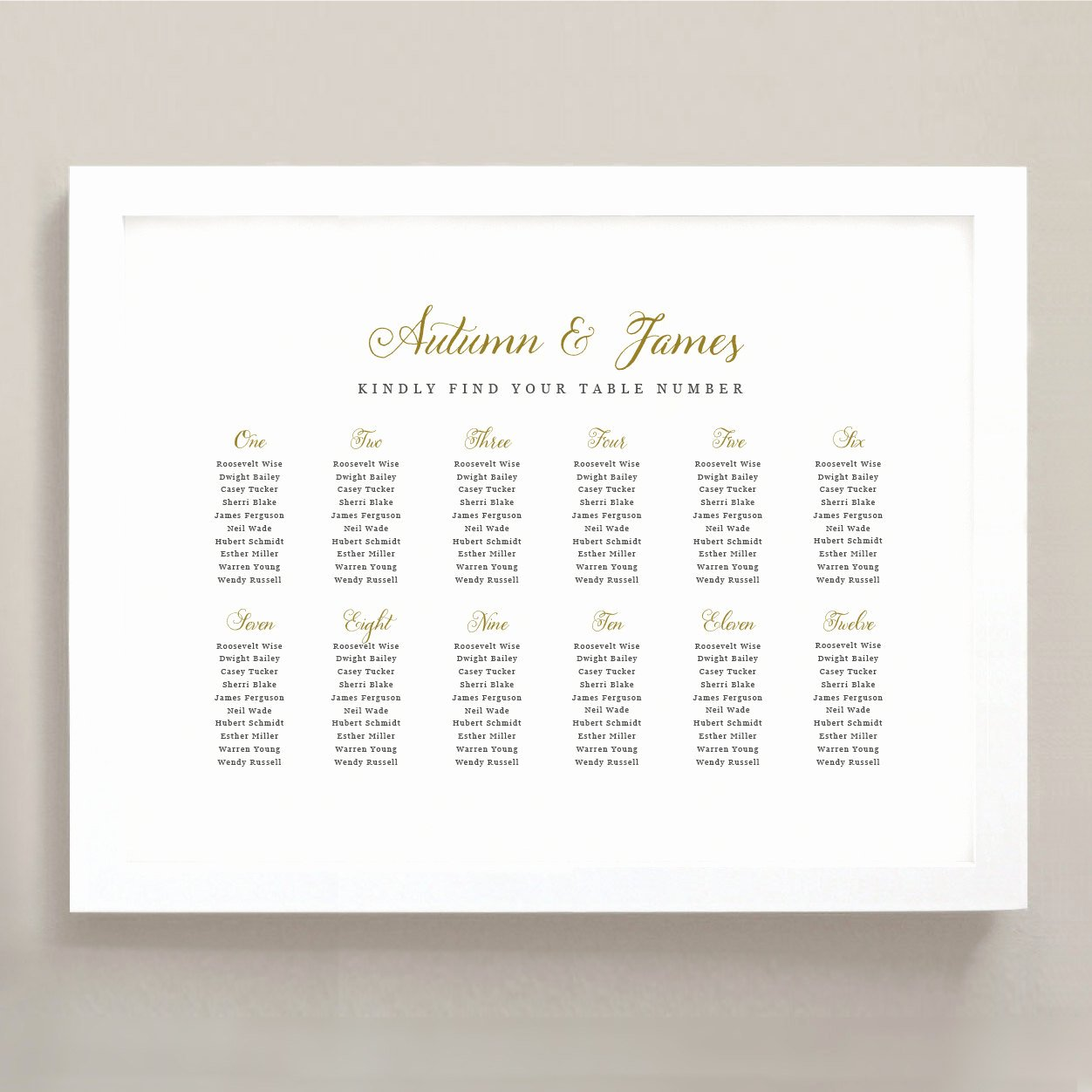 Seating Chart Poster Template Unique Printable Seating Chart Poster Template Romantic Script Word