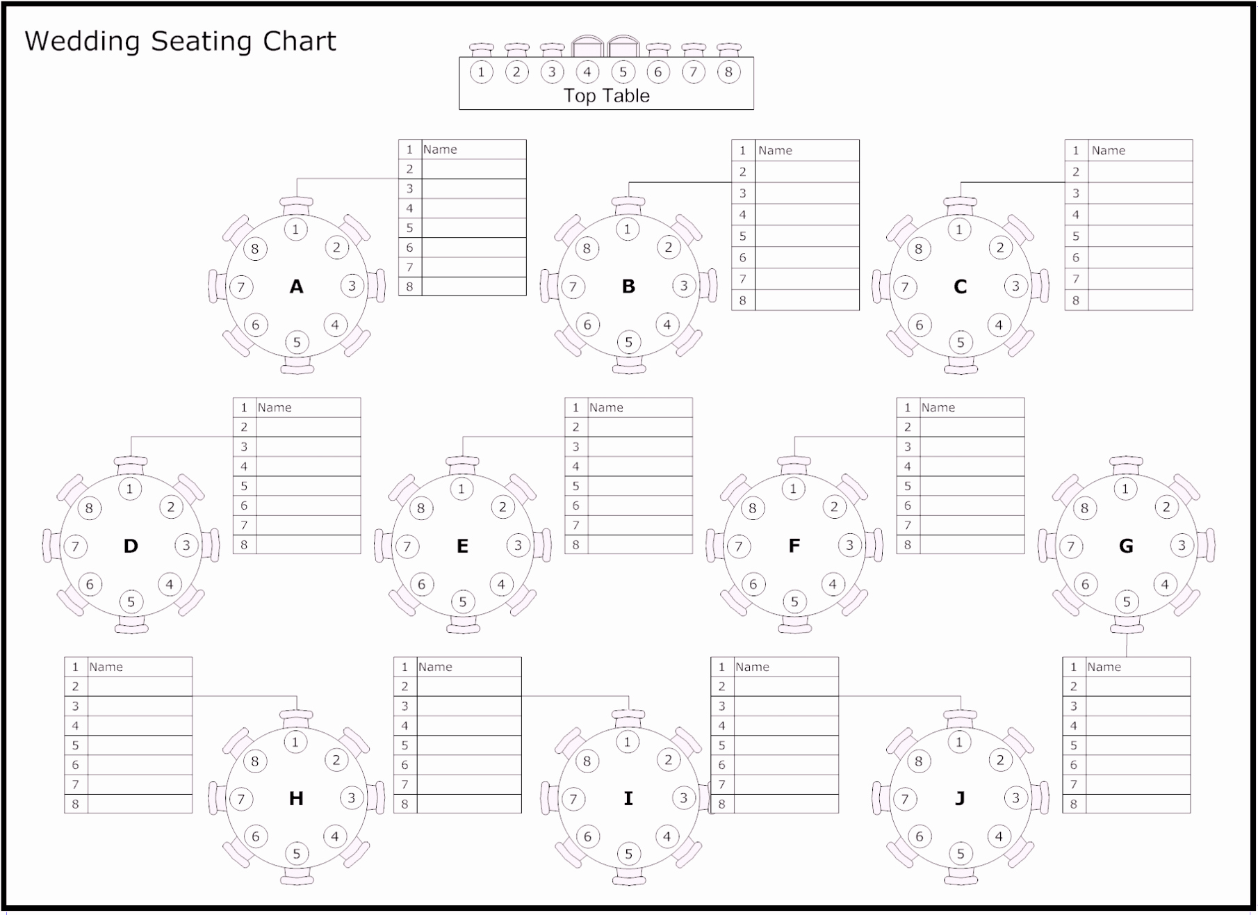 Seating Chart Template Excel Awesome Free Table Of Reception & Wedding Seating Chart Template