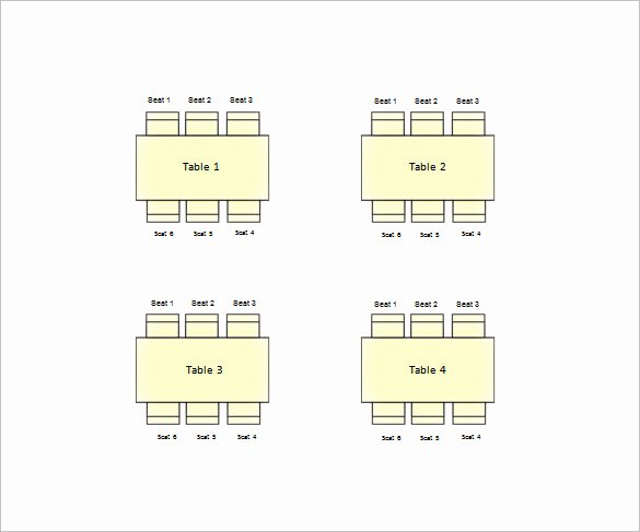 Seating Chart Template Excel Best Of 11 Table Seating Chart Templates Doc Pdf Excel