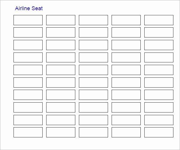 Seating Chart Template Excel Elegant Sample Seating Chart Template 16 Free Documents In Pdf