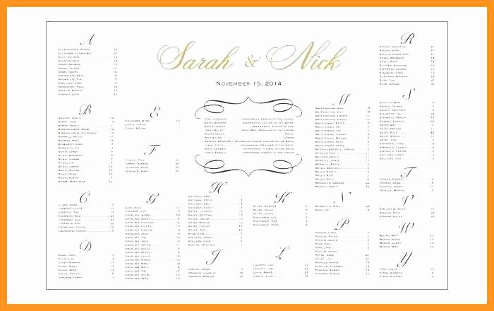 Seating Chart Template Excel Fresh 10 11 Wedding Seating Chart Template Excel