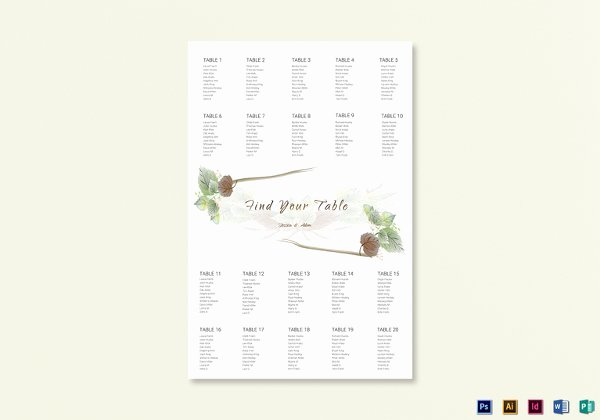 Seating Chart Template Word Awesome 34 Wedding Seating Chart Templates Pdf Doc