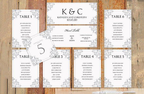 Seating Chart Template Word Luxury Wedding Seating Chart Template – 11 Free Sample Example