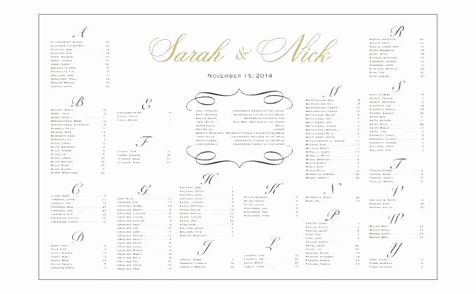 Seating Chart Template Word Luxury Wedding Seating Chart Template Excel for Editable