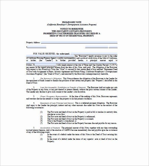 Secured Promissory Note Template Fresh 7 Secured Promissory Note Free Sample Example format