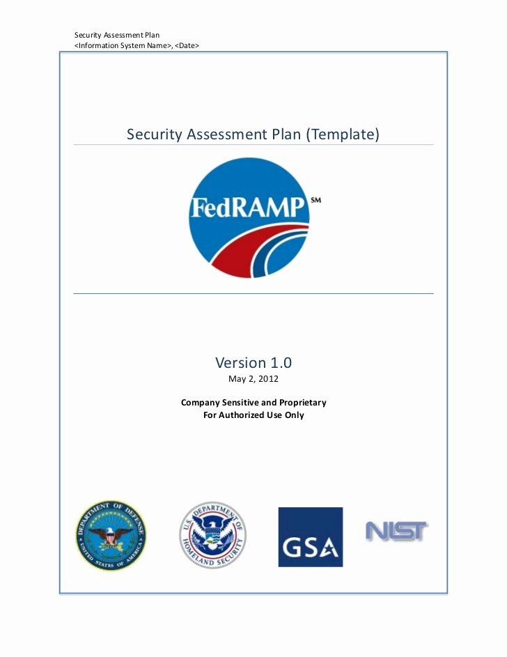 Security assessment Plan Template New Security assessment Plan Template