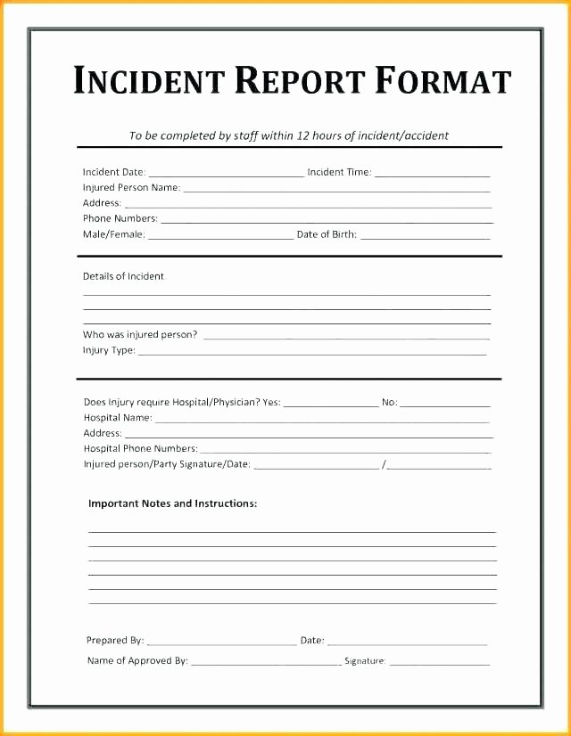 Security assessment Report Template New It Security Report Template Medical Incident Report form