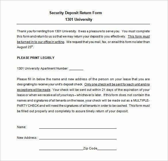 Security Deposit Receipt Template Best Of 20 Deposit Receipt Templates Doc Excel Pdf
