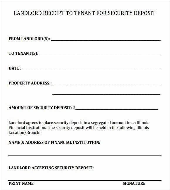 Security Deposit Receipt Template Fresh 16 Sample Deposit Receipt Templates to Download