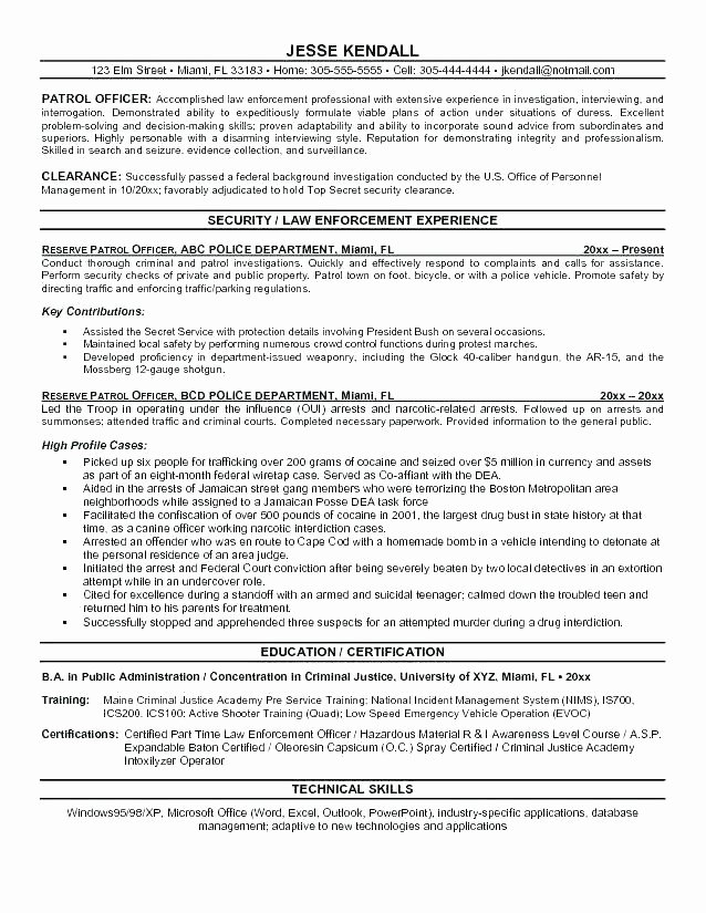 Security Guard Resume Template Best Of Security Guard Cv Sample Armed Ficer Resume Military