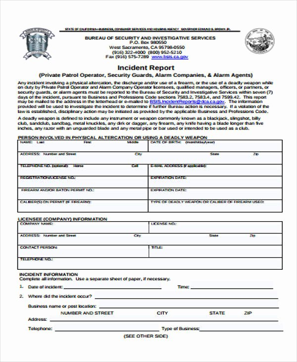 Security Incident Report Template Awesome 53 Incident Report Examples