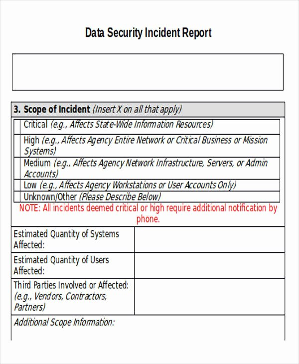 Security Incident Report Template Elegant 33 Incident Report Templates