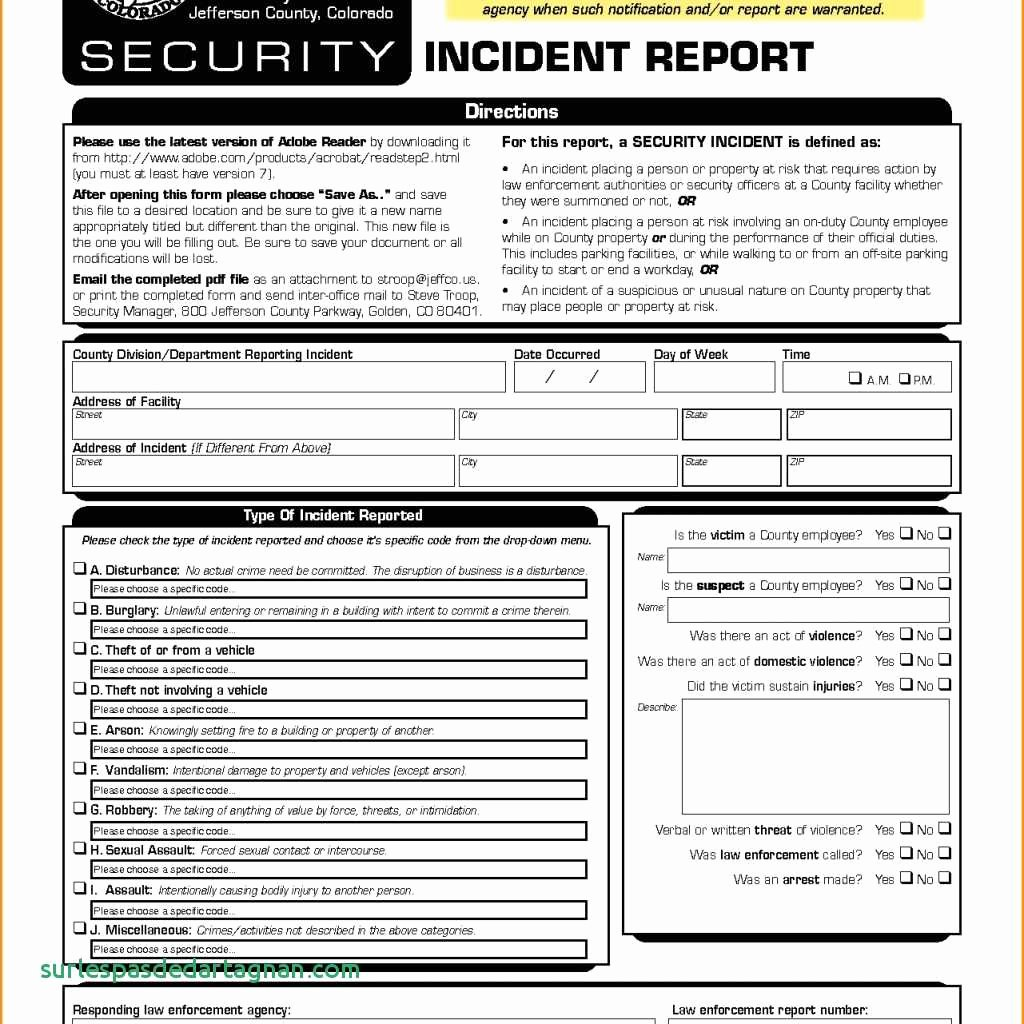 Security Incident Report Template Inspirational Security Incident Report