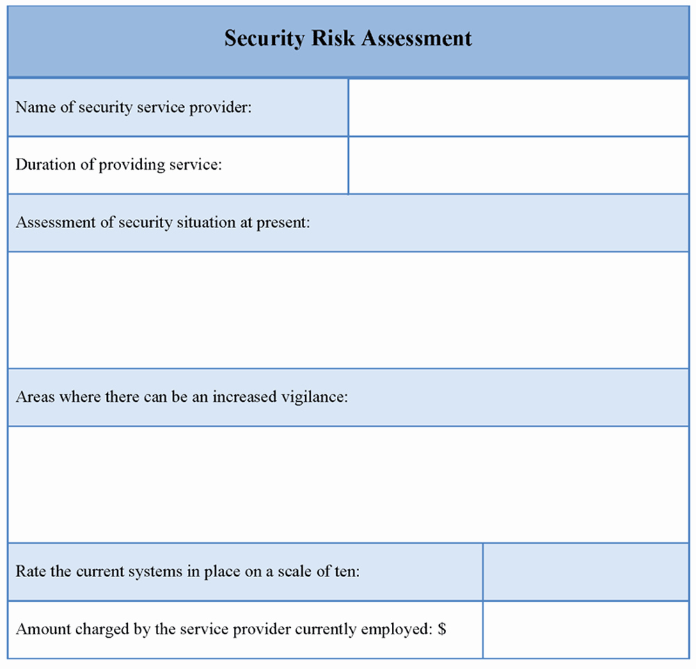 Security Risk assessment Template Awesome assessment Template for Security Risk Example Of Security