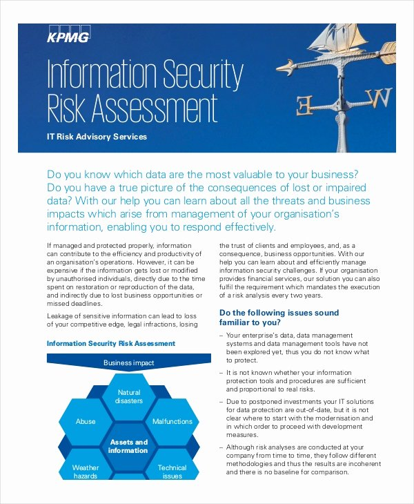 Security Risk assessment Template Elegant 10 Security Risk assessment Templates Free Samples
