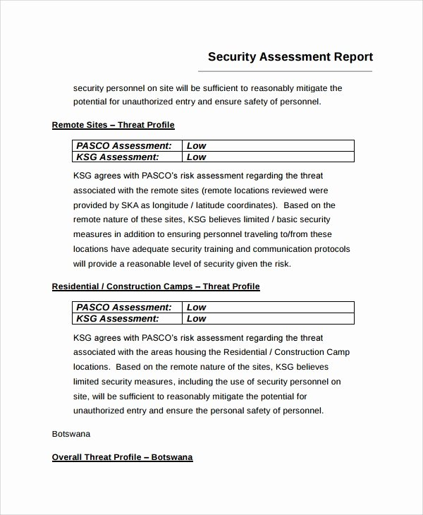 Security Risk assessment Template Elegant 9 Sample Risk assessment Report Templates Google Docs