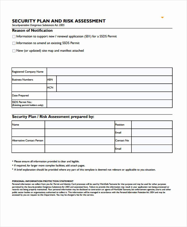Security Risk assessment Template New 31 Risk assessment Templates In Pdf