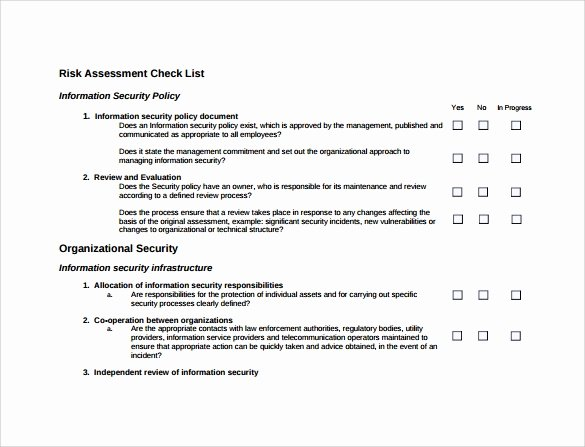Security Risk assessment Template Unique 10 Sample Security Risk assessment Templates Pdf Word
