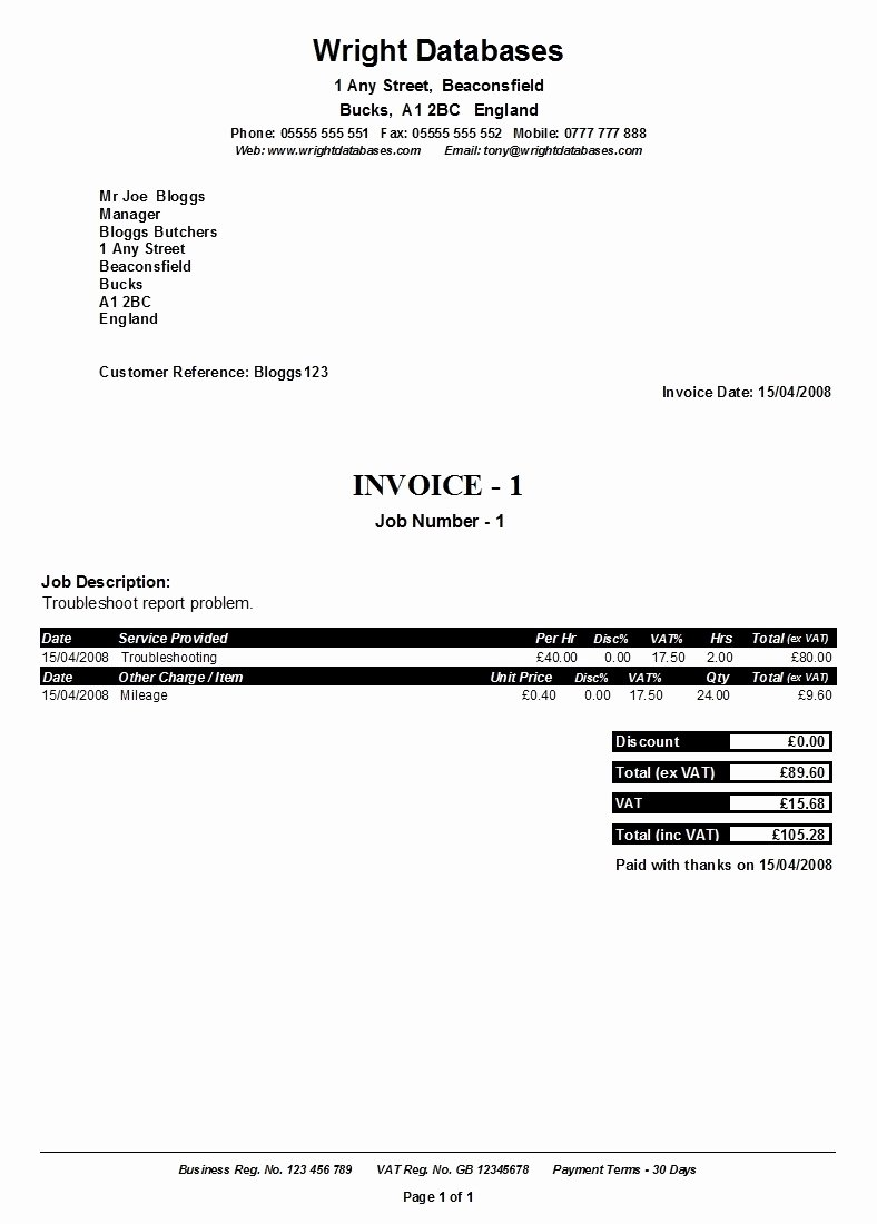 Self Employed Invoice Template Fresh Ficial Invoice Template Invoice Template Ideas