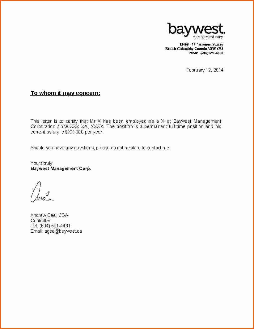 Self Employment Letter Template Awesome 6 Proof Of In E Letter Self Employed Bud Template