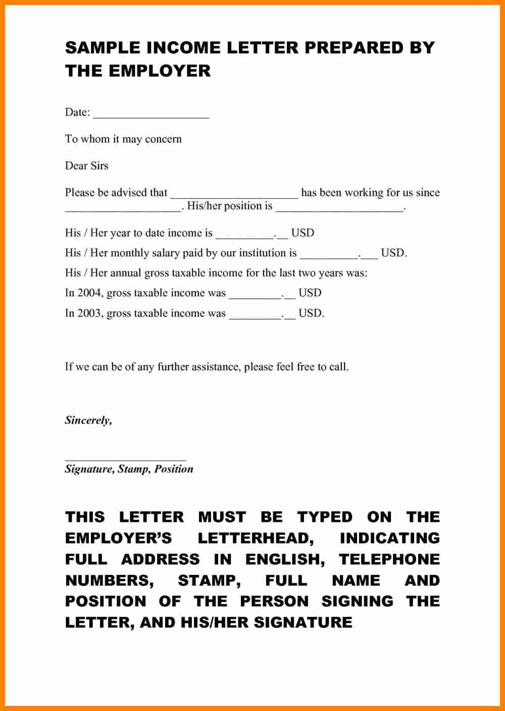 Self Employment Letter Template Beautiful Proof No In E Letter Template Samples