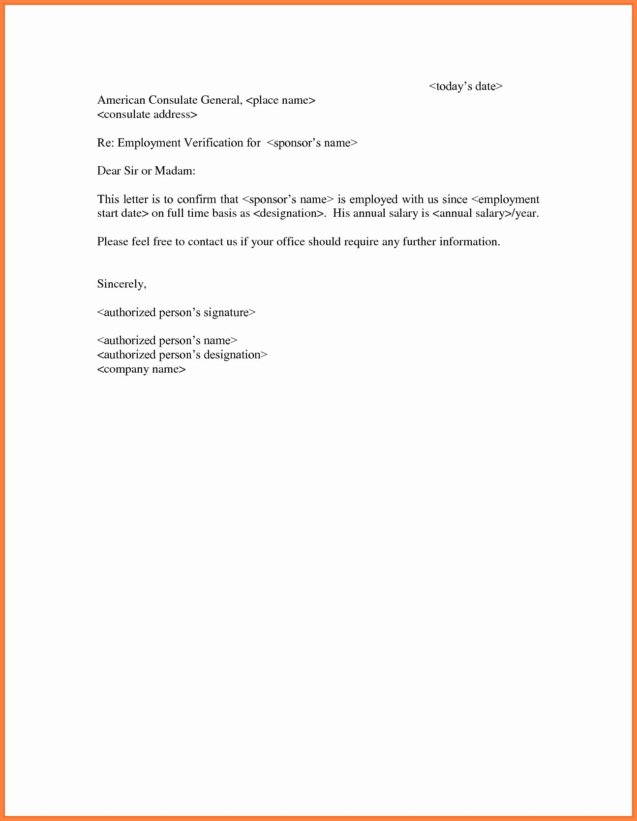 self employment verification letter template