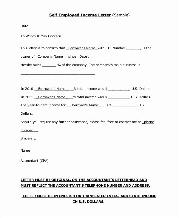 Self Employment Letter Template New 43 Employment Samples