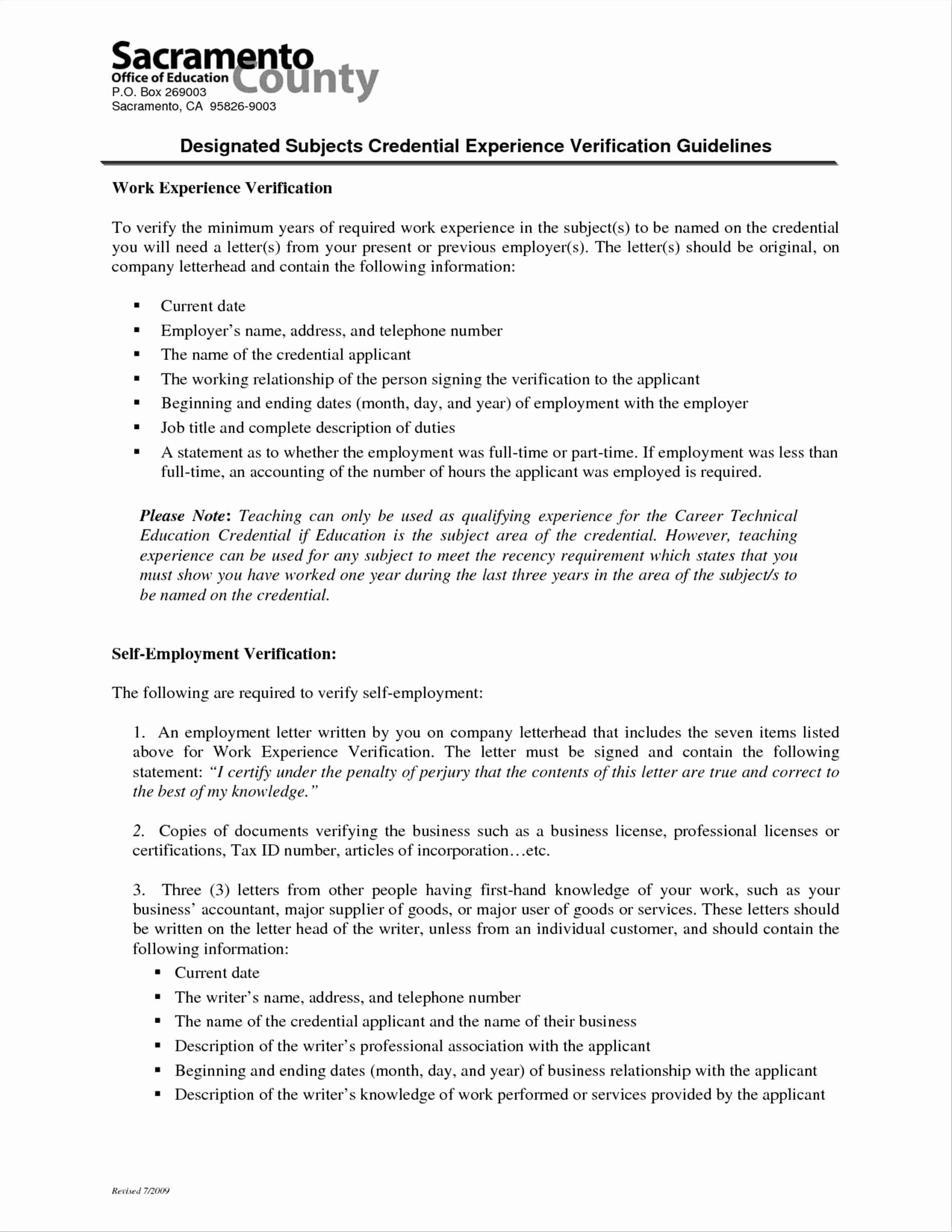 Self Employment Letter Template New Self Employment Verification Letter Template Samples